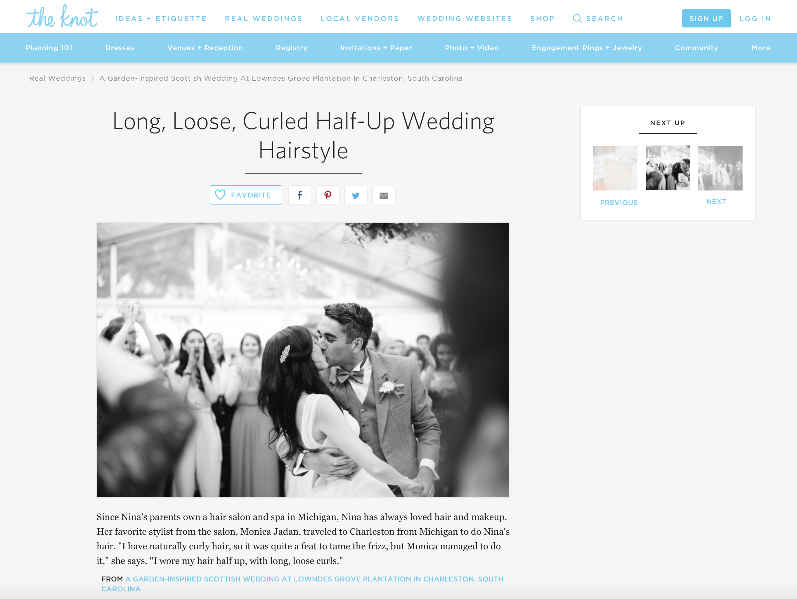 Featured In the Knot - Monica Jadan
